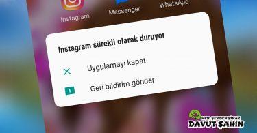 Instagram Durduruldu Hatası